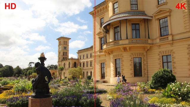 Vergleichsbild 3 - Auflösungsvergleich HD/4K übereinander