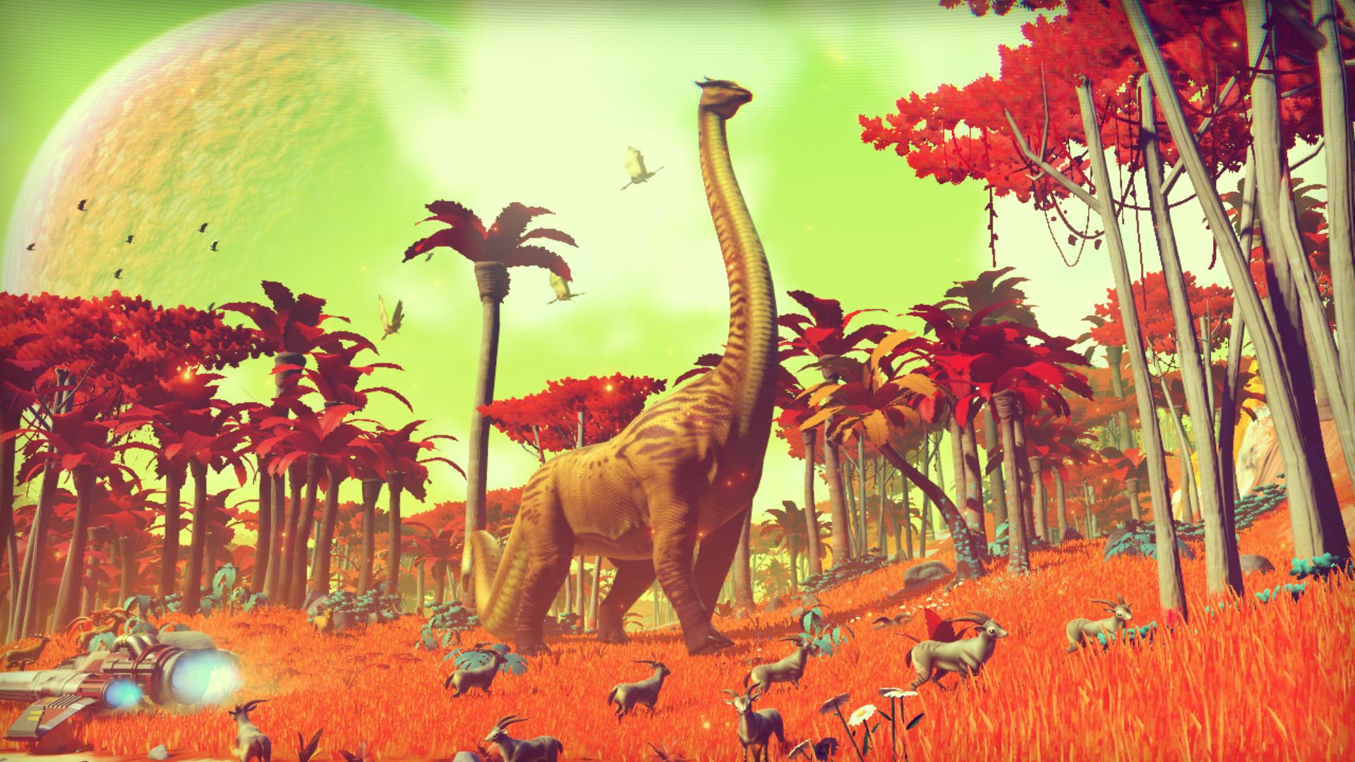 Ein Dinosaurier auf einem fremden Planeten. Quelle: Hello Games