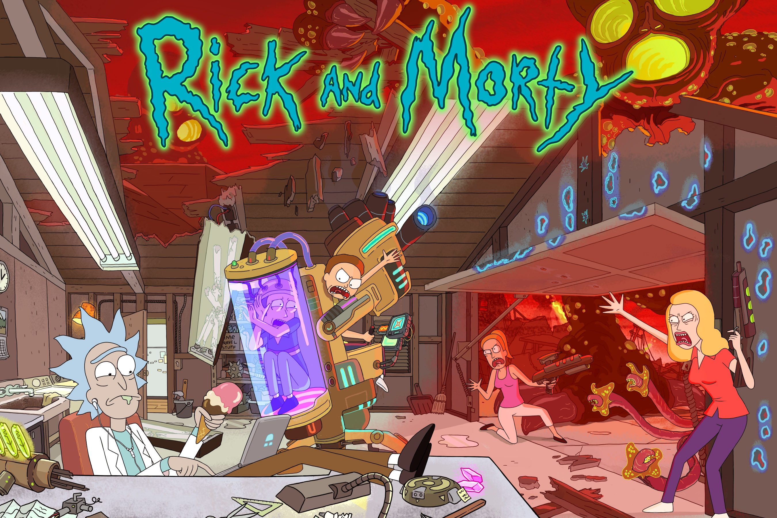 Bunte Farben, finstere Themen: Die Cartoon-Serie Rick and Morty