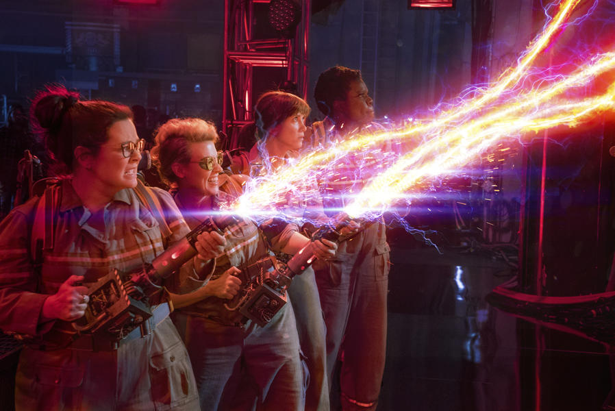 Die neuen Ghostbusters in Action- (Quelle: © Sony Pictures Releasing GmbH)