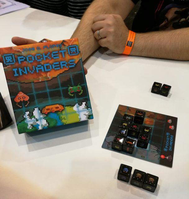 Eine schöne Brettspielumsetzungen von Space Invaders