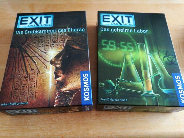 Zwei weitere Exemplare aus der Exit- Reihe