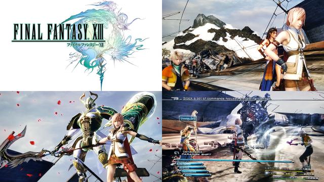 Wieder einmal holt Final Fantasy mit tollen Effekten und detaillierten Figuren alles aus der aktuellen Konsolengeneration (PS3) heraus. Leider leidet Teil 13 aber unter schlauchartigem Leveldesign, einer wirren Geschichte und einem gewöhnungsbedürftigem Kampfsystem. (Final Fantasy XIII, 2009 - Eigene Screenshots / © Square Enix)