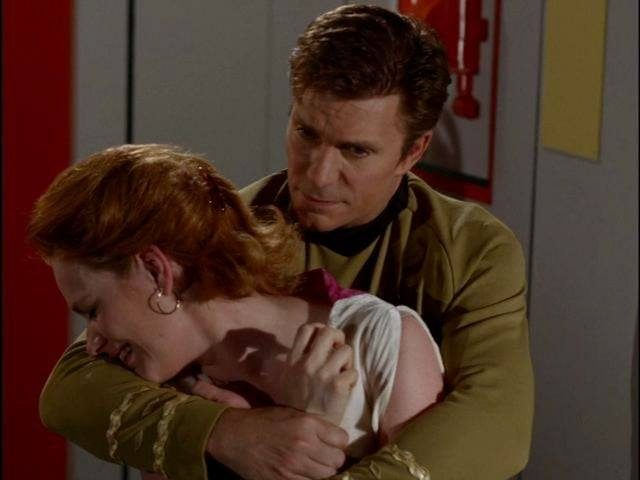 Star Trek Continues hat in einer Vignette die letzten Minuten der Episode The Turnabout Intruder nachgestellt. Quelle: Star Trek Continues