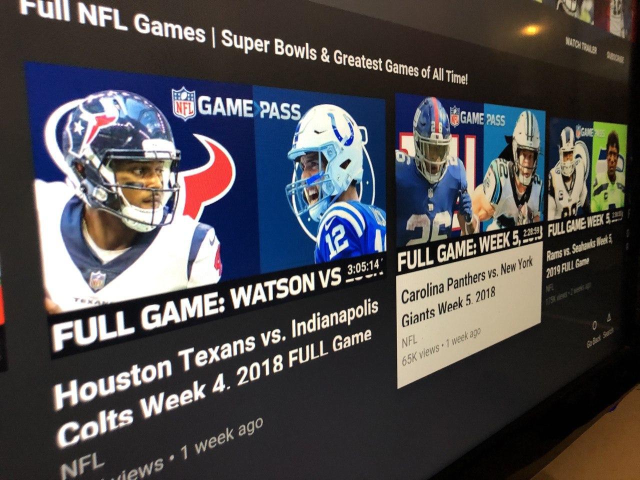 Die NFL hat auf ihrem YouTube-Kanal viele Spiele im ReLive im Angebot. Foto: Stefan Krüger (Symbole © NFL/YouTube)